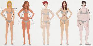 Tipos de corpo de uma mulher